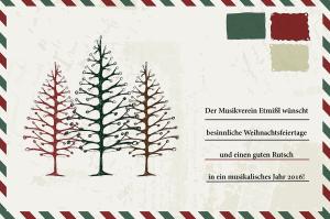 Weihnachtswünsche vom Musikverein Etmißl